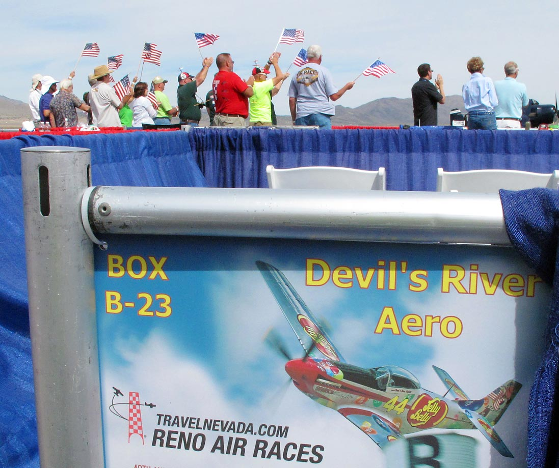 Fans cheer the pilots at the Reno National Championship Races in 2012.