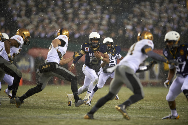 The speedy QB from Navy set a new NCAA college football record for rushing touchdowns by a quarterback last fall when he ran for 31 TDs, leading the Midshipmen to a 9-4 record.