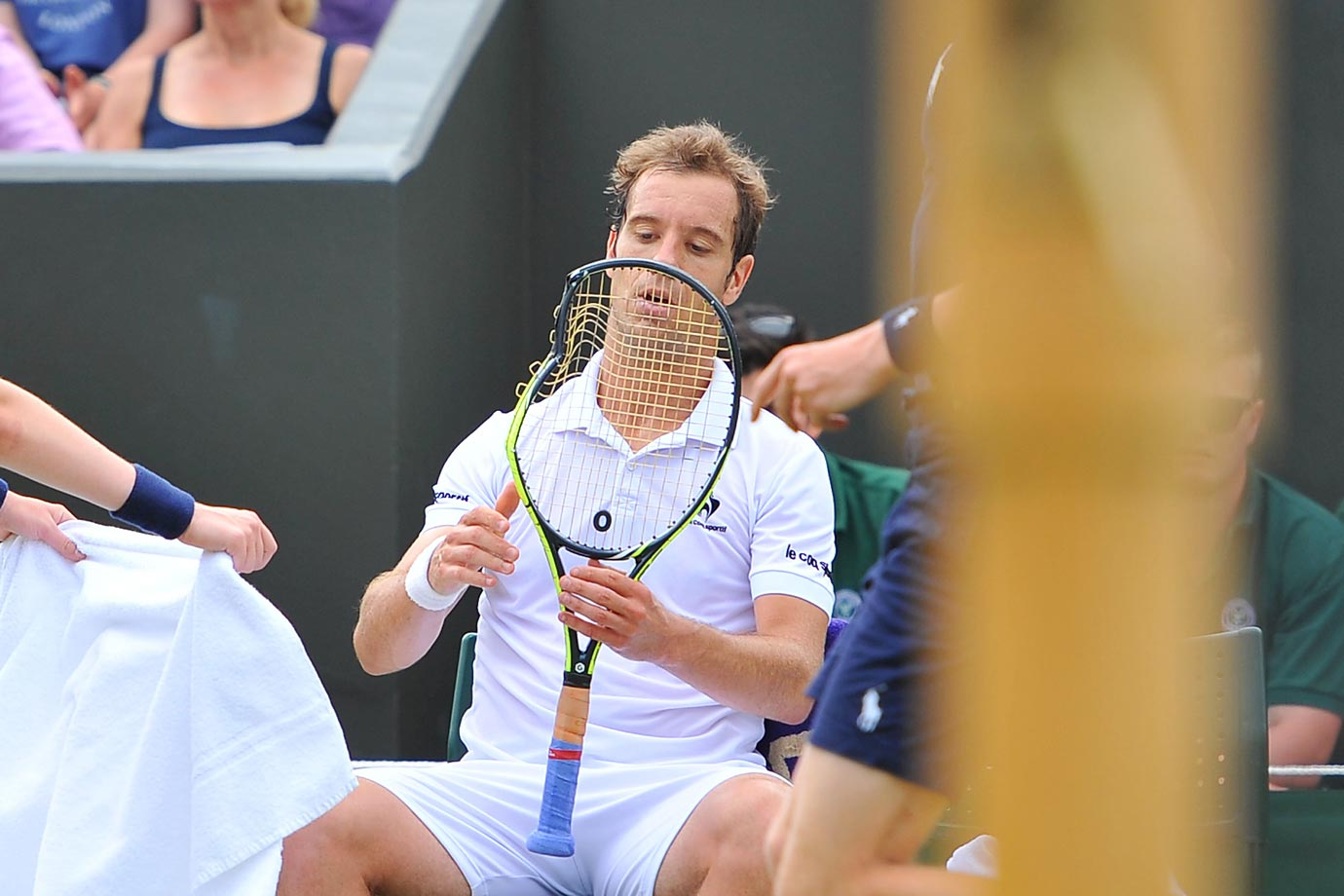 Richard Gasquet lost his temper for a bit but ended up beating Nick Kyrgios at Wimbledon, three sets to one.