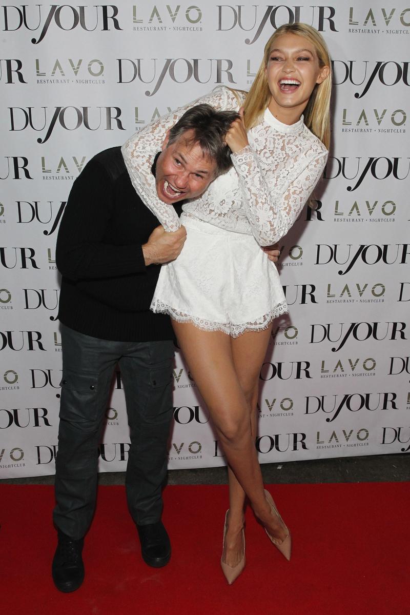 With editor Jason Binn at an event for DuJour Magazine