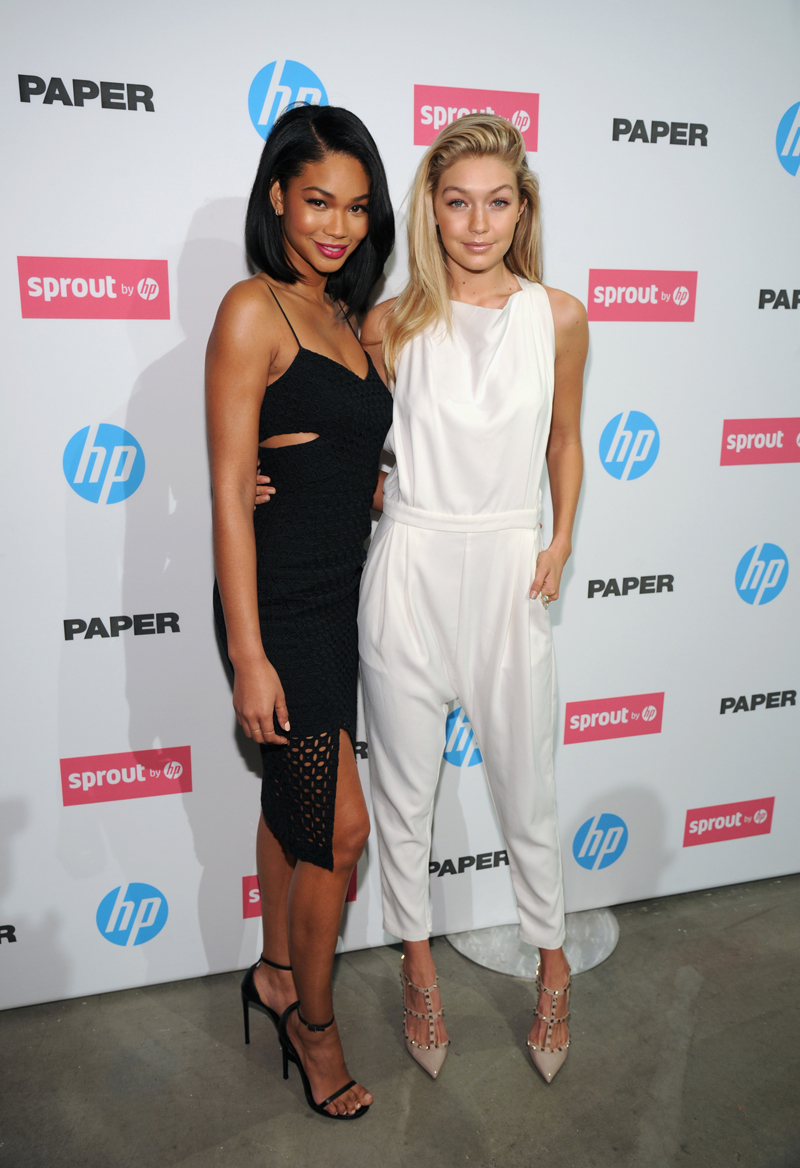 With Chanel Iman at a Paper Magazine event