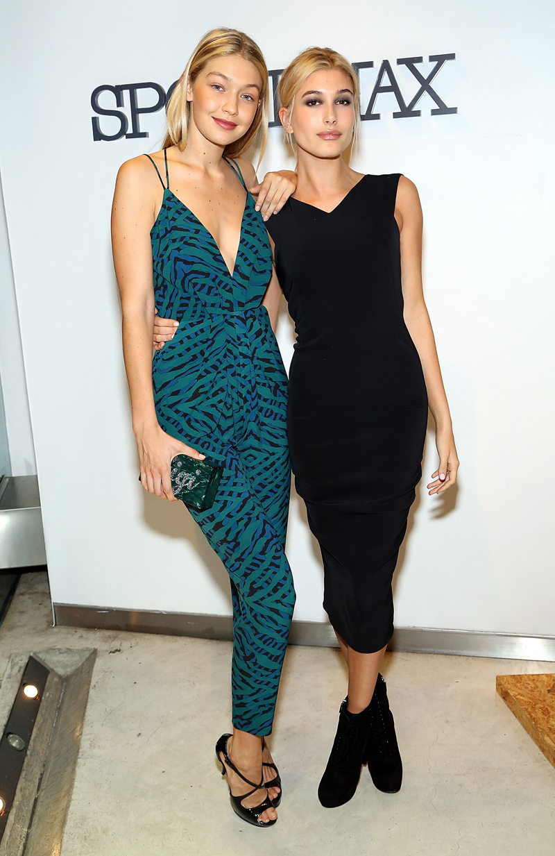 With Hailey Baldwin at a Sportmax event