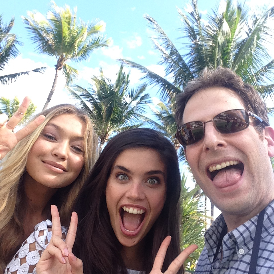 With Gigi Hadid and SI.com's Andy Gray