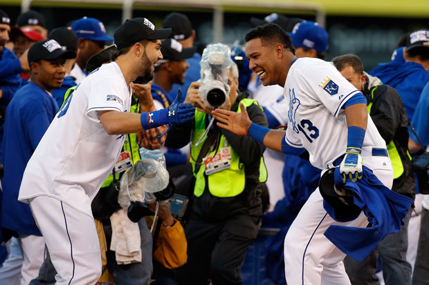 Eric Hosmer and Salvador Perez :: Getty Images