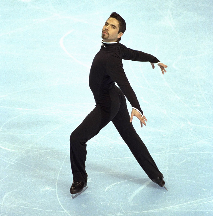 How much did figure-skater Rudy Galindo appreciate his partner, Kristi Yamaguchi? For the years he skated pairs with her, he ended his name with an ''i'' instead of a ''y'' in her honor. The parallelism seemed to work: the two won the national title twice, in 1989 and 1990.