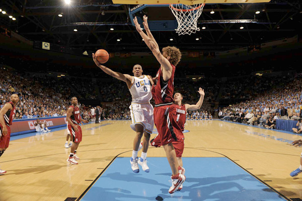 Stanford at UCLA, March 2008 (Russell Westbrook and Robin Lopez)