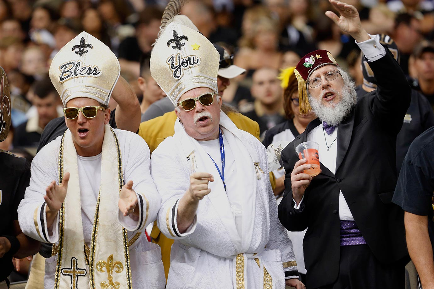 The Pope is getting around the U.S. this week, starting at last Sunday's New Orleans Saints game.