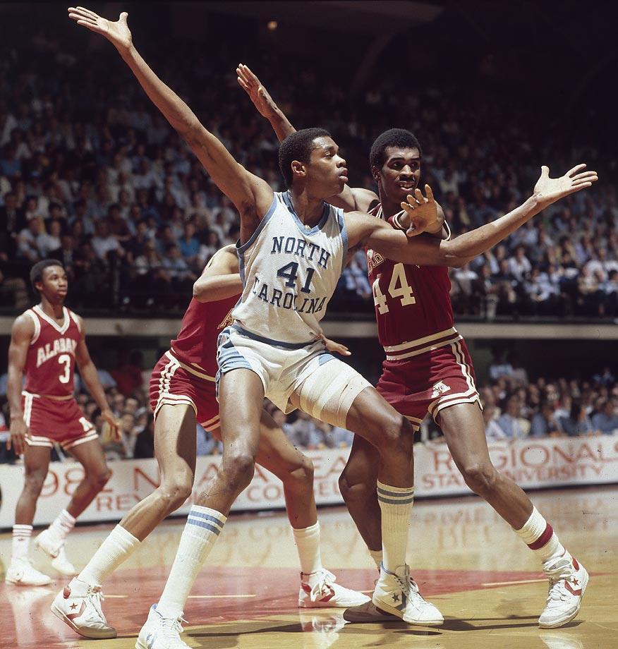 Before there was Jordan and Pippen there was Jordan and Perkins, a dynamic duo powering Dean Smith's Tar Heels. Sam Perkins arrived in Chapel Hill one year before Jordan, contributing nearly 15 points and eight rebounds per game as North Carolina reached the national championship game. With Jordan alongside Perkins and James Worthy, the Tar Heels got their national title, the first for Smith. They reached the Elite Eight and the Sweet 16 the following two years. Perkins remains North Carolina's all-time leader in rebounds with 1,167 career boards to go along with his 2,133 career points. The two-time first-team All-America was drafted fourth overall in 1984, one spot behind Jordan.