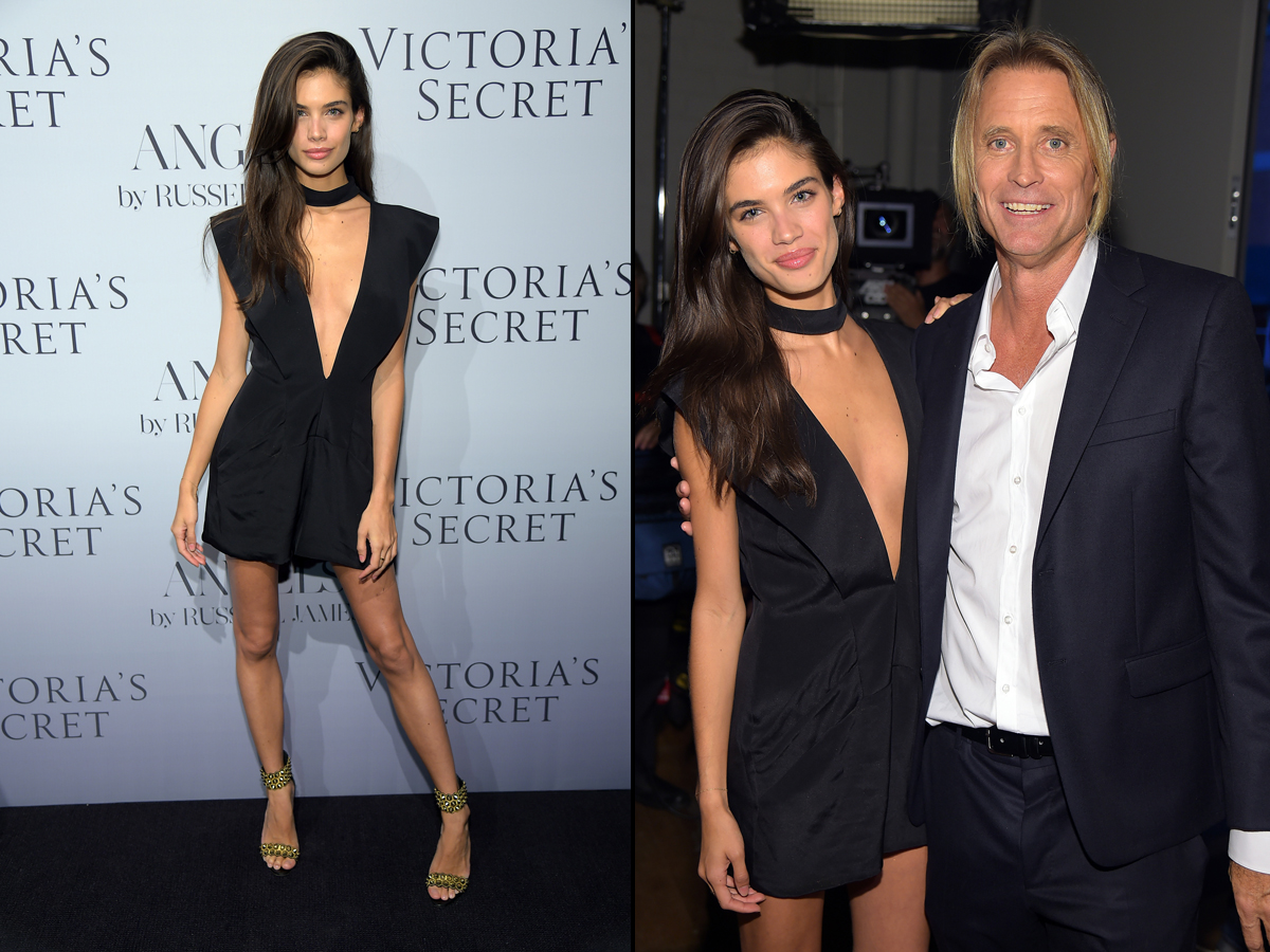 Sara Sampaio with Russell James at 'Angels' release party