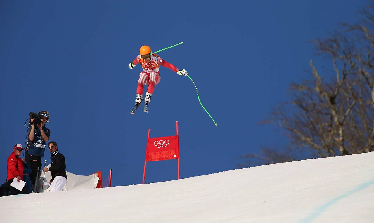 Sandro Viletta won the gold medal in the Super Combined Downhill.
