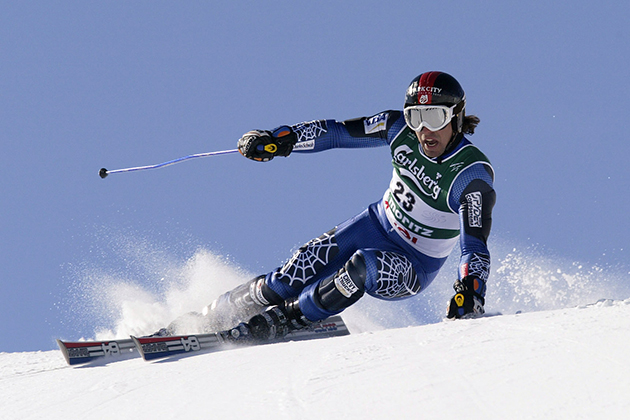 Erik Schlopy at the FIS Alpine World Ski Championships in February 12, 2003.