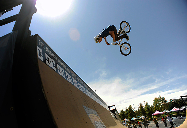 Brett Banasiewicz at 16 years old practices on the ramps at the Journeys Backyard Barbecue in June 2011.