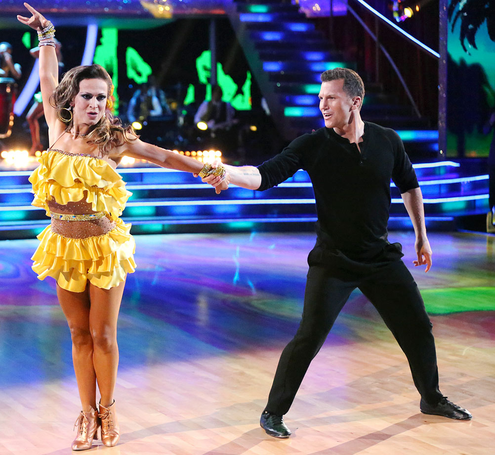 Retired NHL center Sean Avery finished in 11th place with dancing partner Karina Smirnoff in Season 18.