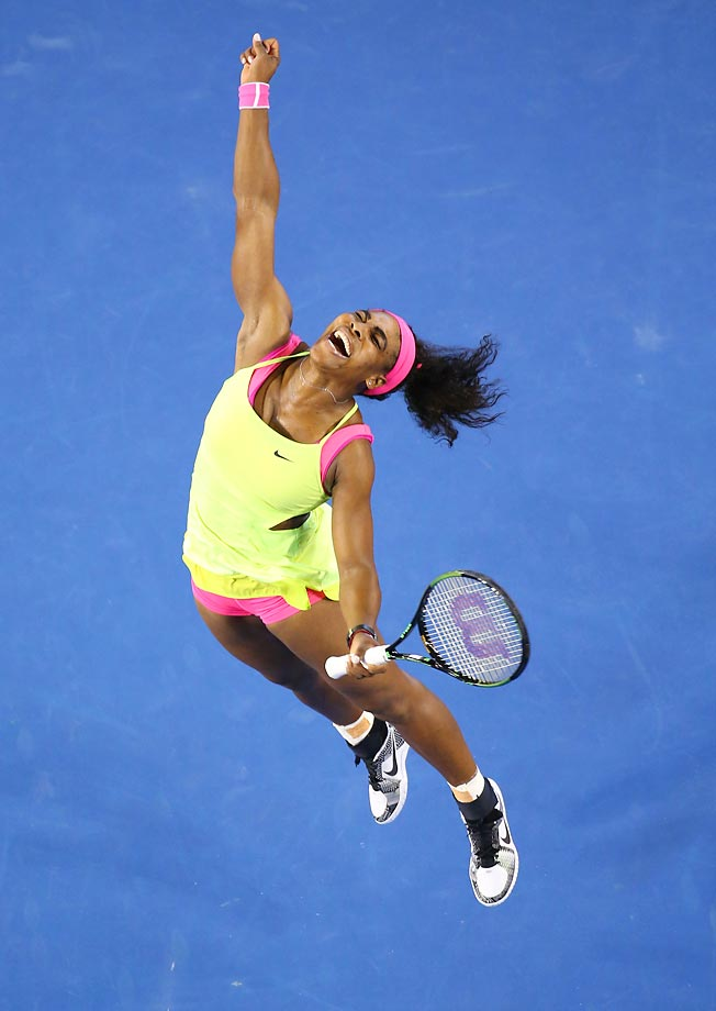 Serena Williams was excited after defeating Maria Sharapova in the final match of the Australian Open.
