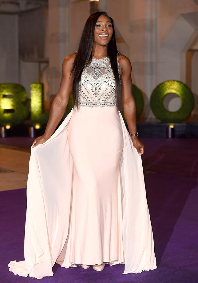 Serena Williams arrives at the 2015 Wimbledon Champions Dinner at The Guildhall in England.