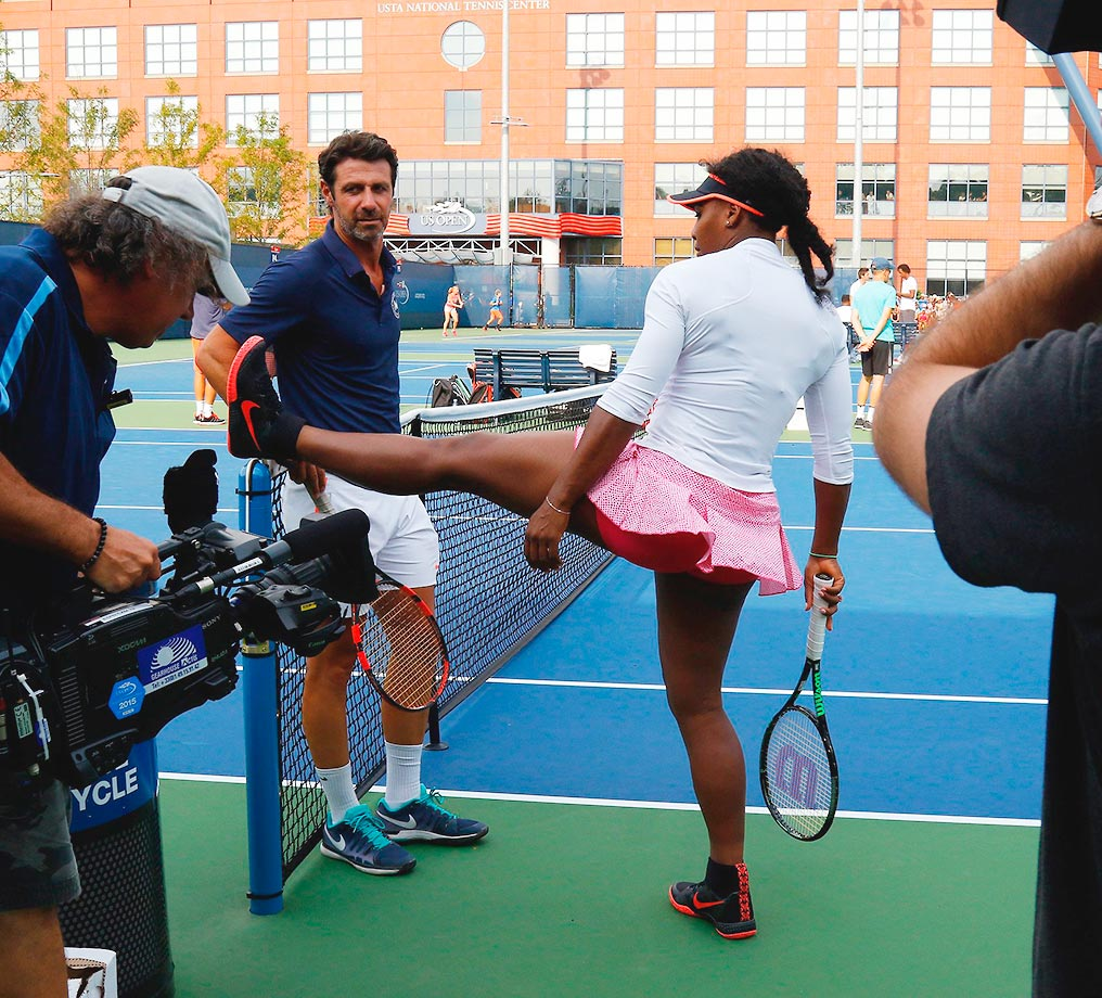 Serena Williams prepares herself for another U.S. Open.