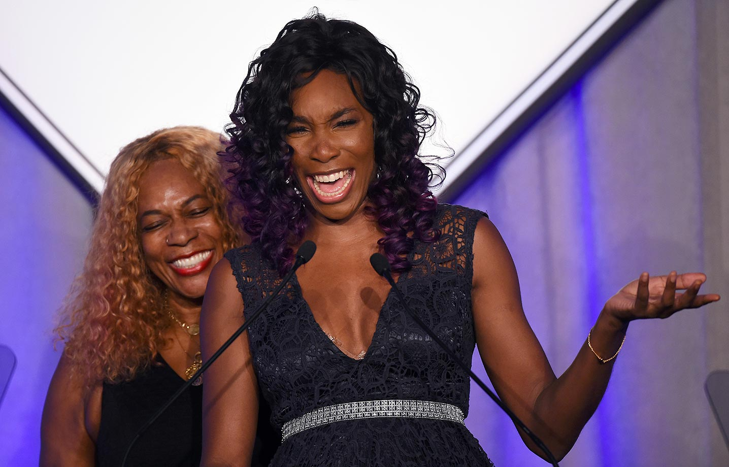 Venus Williams with her mother Oracene Price.