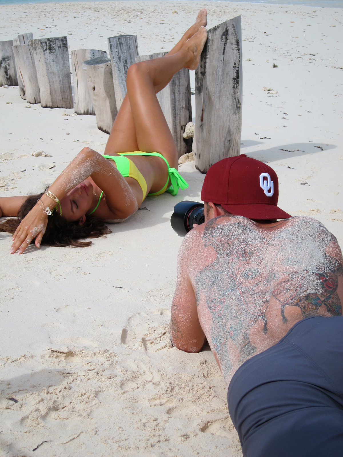 Photographer James Macari and Alyssa Miller