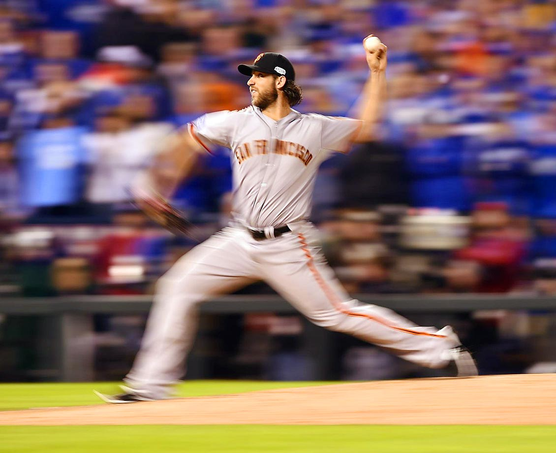 World Series MVP Madison Bumgarner pitched five scoreless innings to lead the Giants past the Royals 3-2 in in the decisive Game 7 in Kansas City.