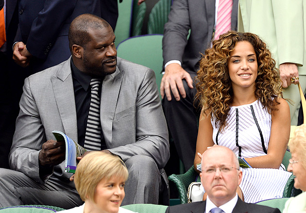 Shaq was joined by girlfriend Laticia Rolle in the royal box.