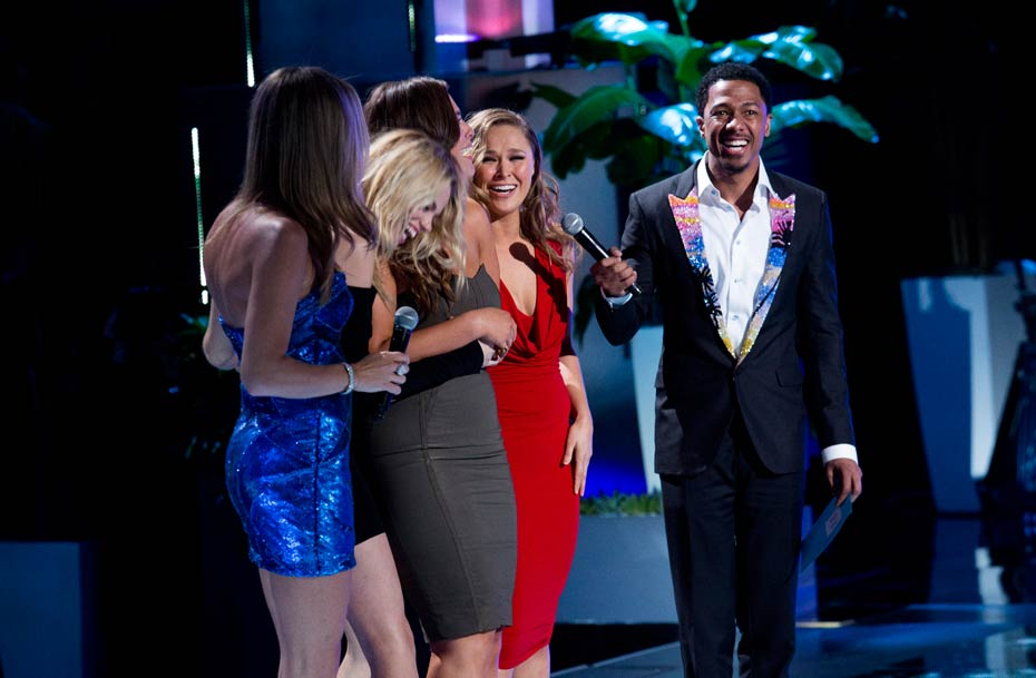 Rebecca Romijn, Ashley Graham, Hailey Clauson, Ronda Rousey and Nick Cannon