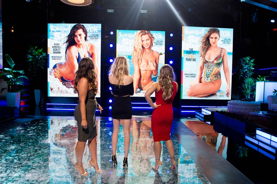 Ashley Graham, Hailey Clauson and Ronda Rousey