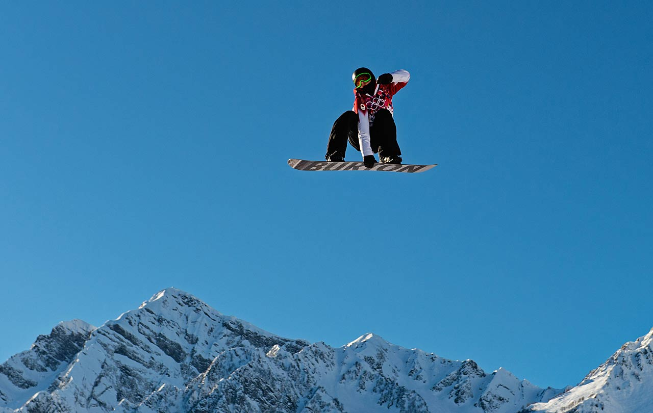An unidentified competitor during the slopestyle semifinals.