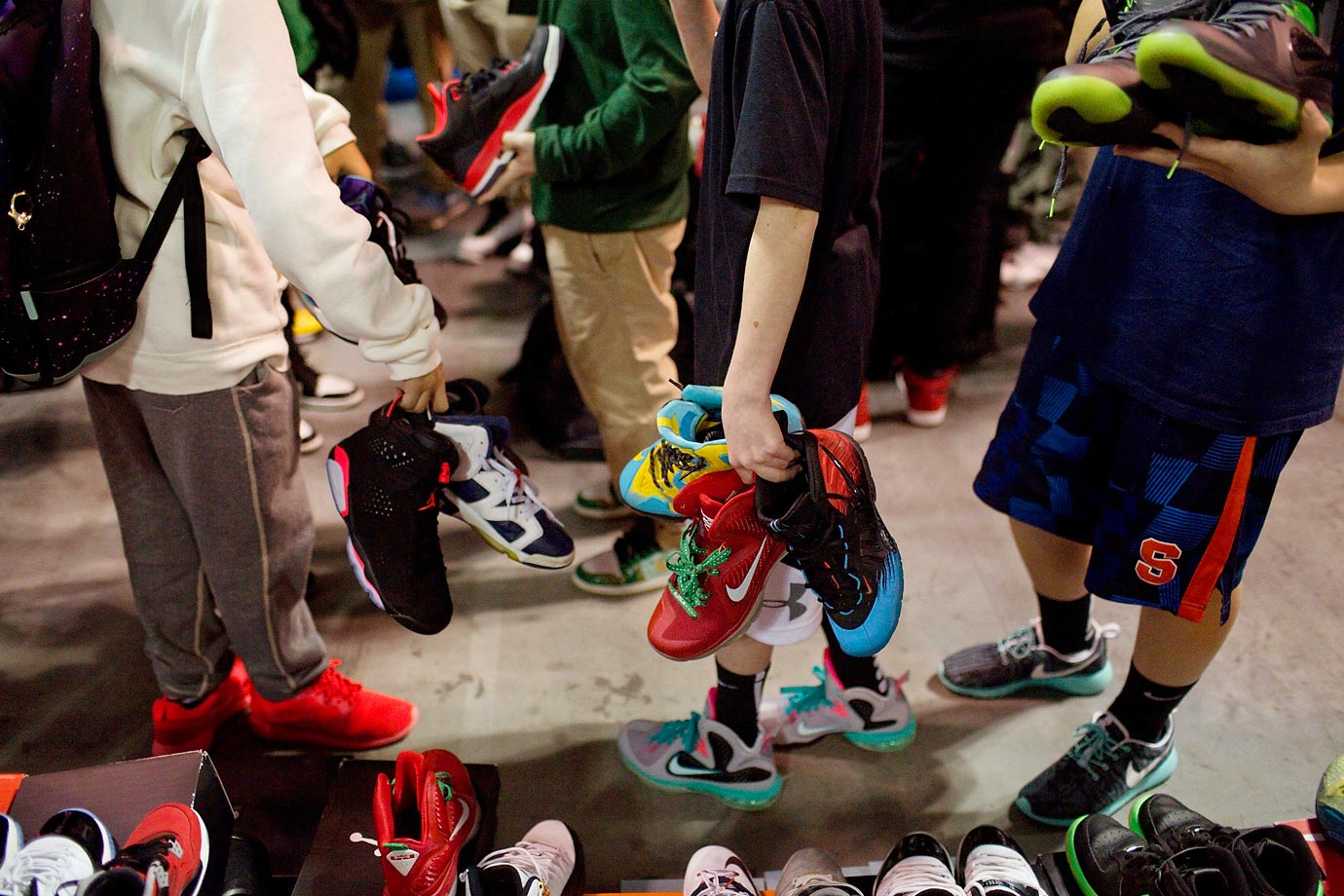 "Known as ""The Greatest Sneaker Show on Earth,"" Sneaker Con returned to New York City on Dec. 6 for its biggest event yet. Seas of shoe fiends filled up the Javits Center in hopes of buying, selling, trading and showing off their sneakers. With more than 300 vendors and 50,000 sneakers, the scene was a sneaker lover's mecca. Check out the scenes from 2014 Sneaker Con."