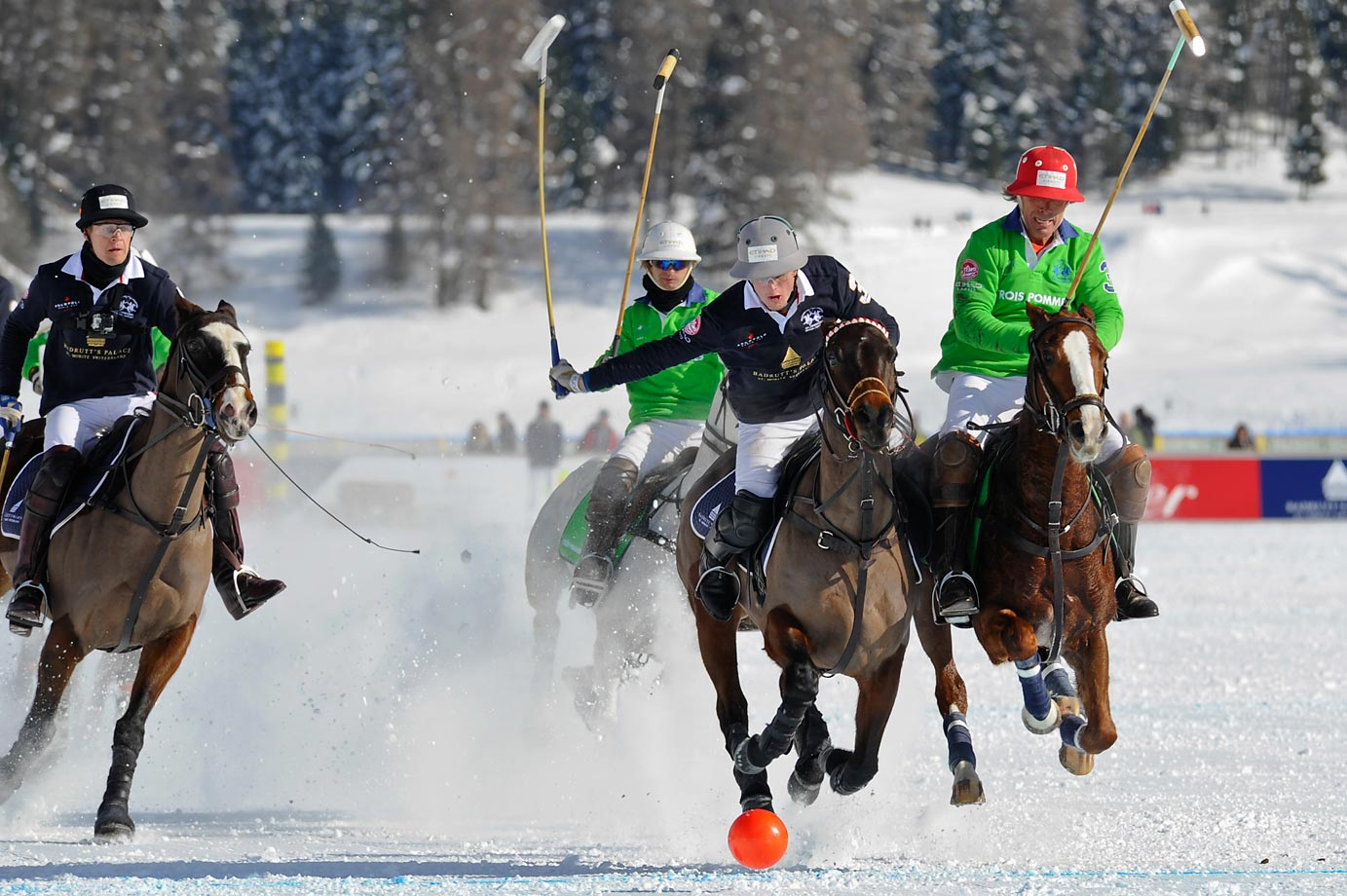 Action from the snow polo world cup, which took place in St. Moritz, Switzerland.