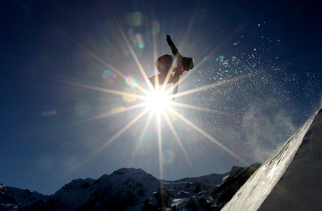Shelly Gotlieb of New Zealand competes in the Slopestyle qualification.