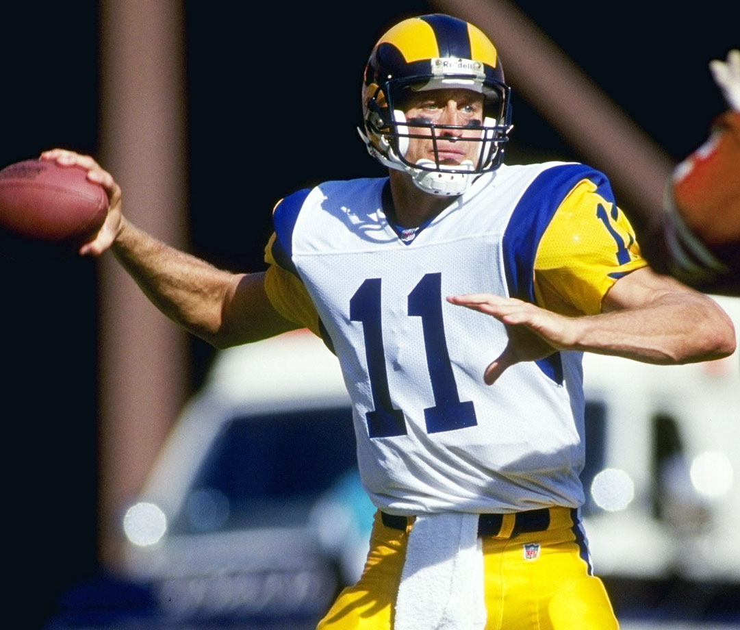 Down 27-3 at the half, Jim Everett threw three touchdowns in the second half as the Rams, then based in Los Angeles, came back to beat the Buccaneers 31-27. The Rams defense held Tampa Bay scoreless in the second half. Sean Gilbert had two sacks and Gerald Robinson added another.