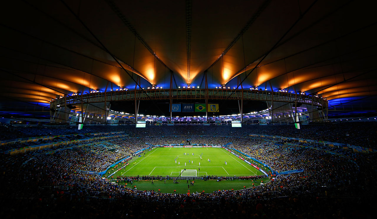 A general view of the stadium during the match between Argentina and Bosnia-Herzegovina.