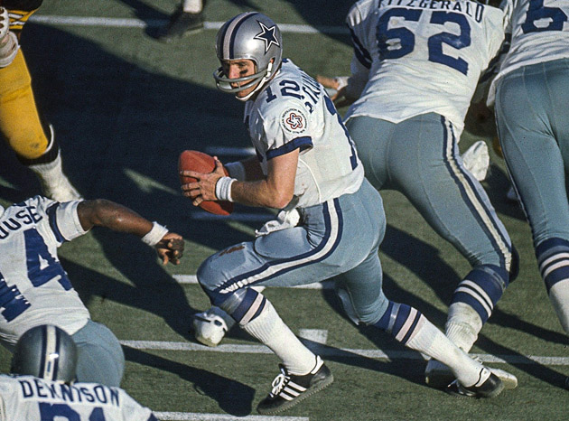 "Staubach brought Dallas from behind to win in the fourth quarter 15 times, earning him the nickname ""Captain Comeback."""