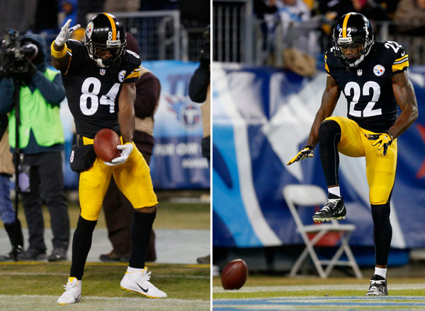 Antonio Brown and William Gay :: Getty Images