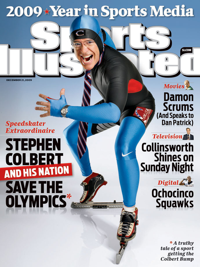 Stephen Colbert appears on the Dec. 21, 2009 cover of Sports Illustrated.