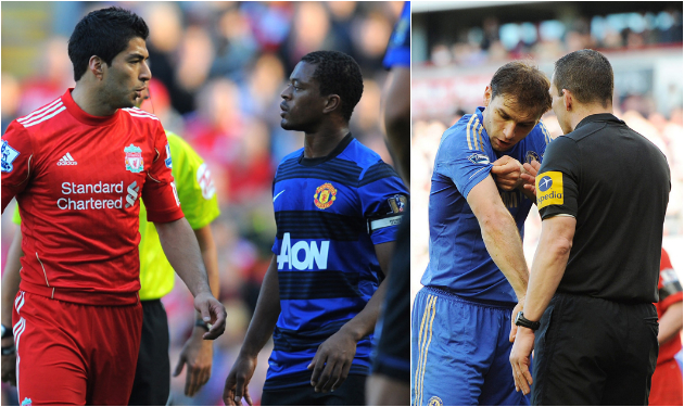 Over the Edge — Racist comments toward Evra in 2011 and an oral incident with Ivanovic (showing off his battler damage) in '13 added up to 18 games' worth of suspensions.