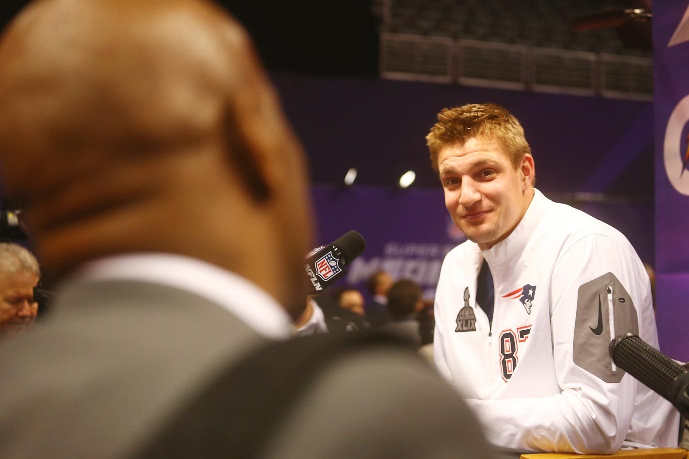 Rob Gronkowski during media day.