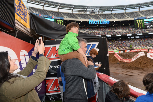More than 62,000 fans came out to the completely transformed MetLife Stadium to cheer on their favorite riders in the Monster Energy Supercross contest.