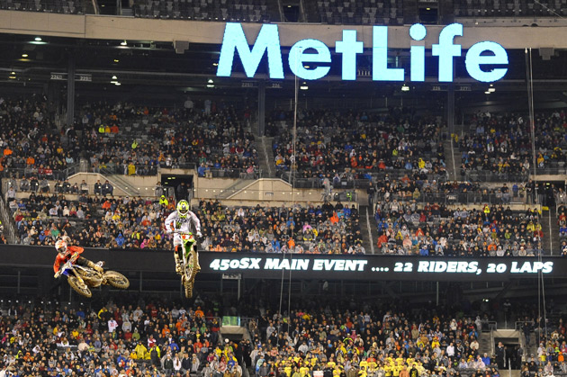 Supercross fans in the Northeast can expect to see more mud-filled trucks heading in and out of MetLife Stadium next year. Monster Energy Supercross will be back at the home of the New York Giants on April 25, 2015.