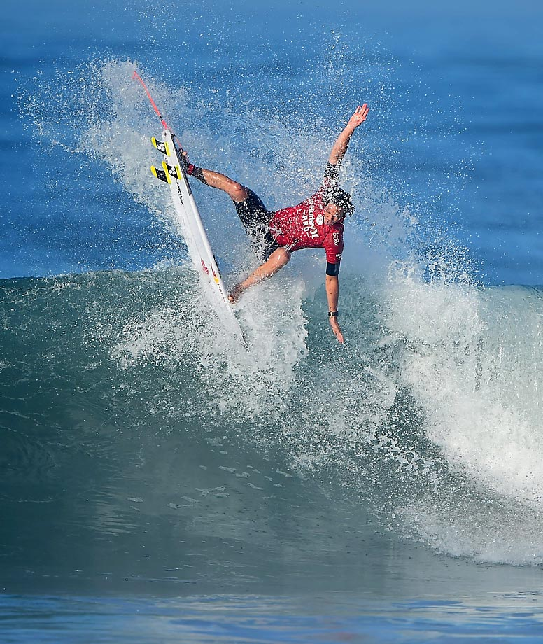 Jordy Smith of South Africa during round three.