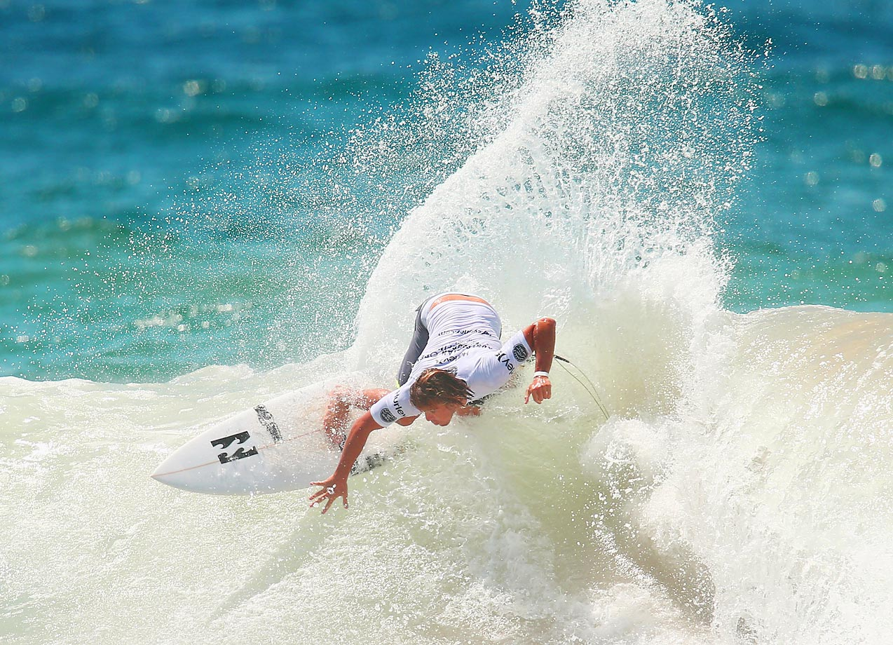 Ryan Callinan of Australia competes in the semifinal of the Australian Open of Surfing in Sydney, Australia.