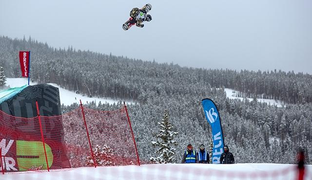 Sven Thorgren in the men's slopestyle finals.