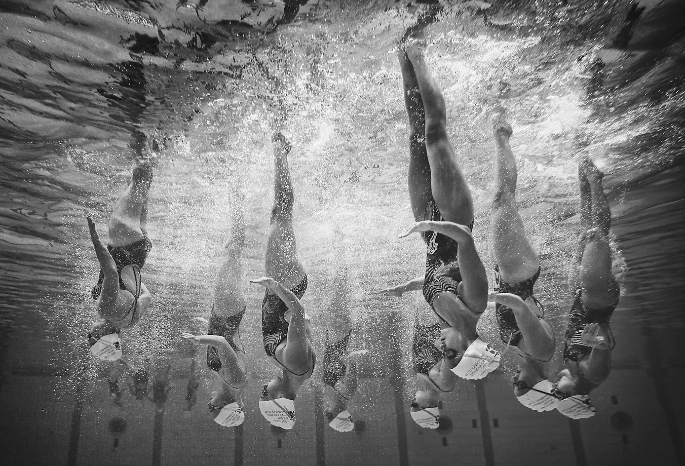 The West Coast Splash team, from Western Australia, competes in the Synchronised Swimming National Championships in Sydney, Australia.