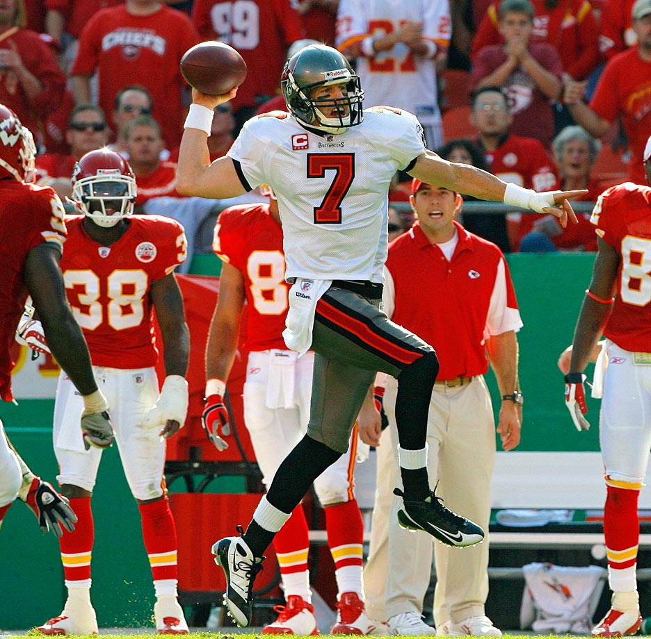 Down 24-3 late in the first half, the Bucs came back and sent the game into overtime after Jeff Garcia threw a touchdown and completed a two-point conversion. Tampa Bay went on to win 30-27 but may not have without a fortuitous penalty. Bucs kicker Matt Bryant missed a field goal, but a false start on lineman Jeremy Trueblood gave Tampa Bay another chance. Garcia completed a pass, and Bryant drilled the shorter second attempt.