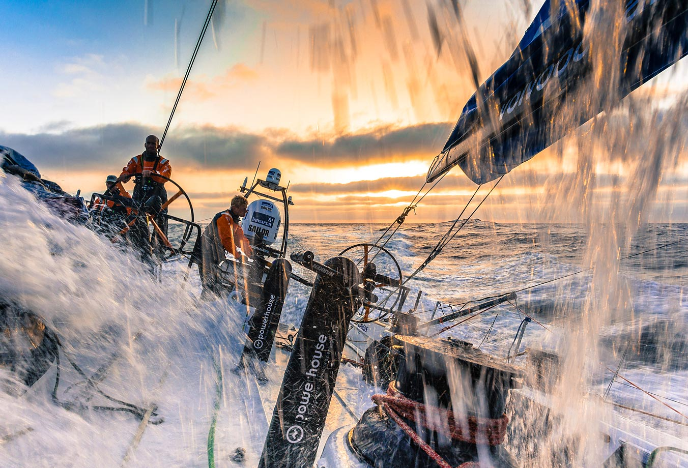 Team Vestas Wind competes in the Volvo Ocean Race, the world's premier ocean race for professional racing crews.