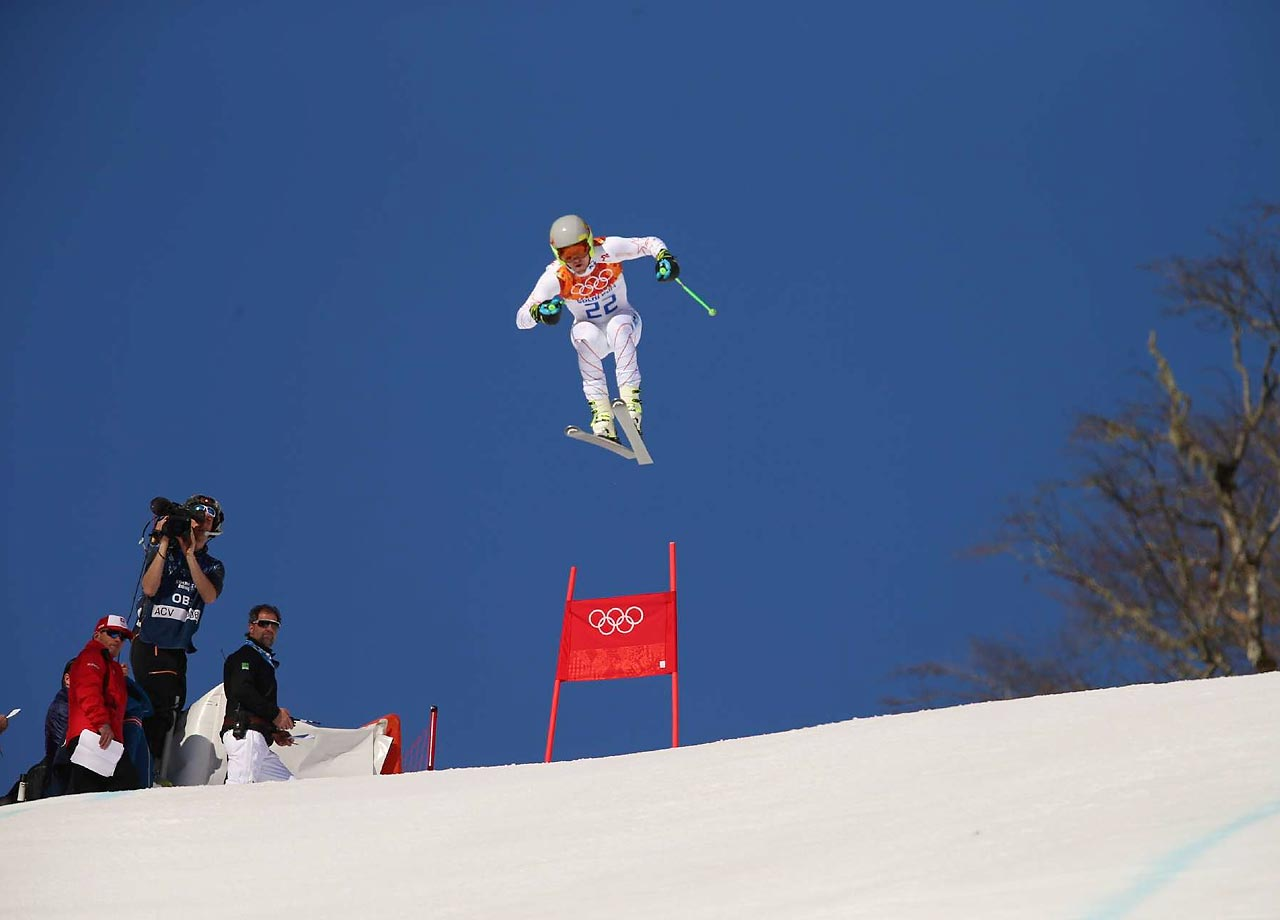 Ted Ligety of the U.S. finished a distant 12th in the Super Combined Downhill.