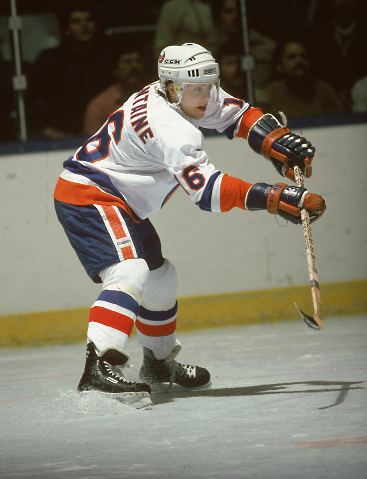 An American out of the QMJHL where he scored 104 goals and 234 points in only 70 games, LaFontaine was drafted third in '83. He played for Team USA at the '84 Olympics before making his NHL debut with 13 goals in 15 late-season games, then helped the Isles reach the Stanley Cup Final. As 19-year-old rookie in '84-85 he went 19-35-54 in 67 games, going on to a Hall of Fame career that was cut short by concussions.