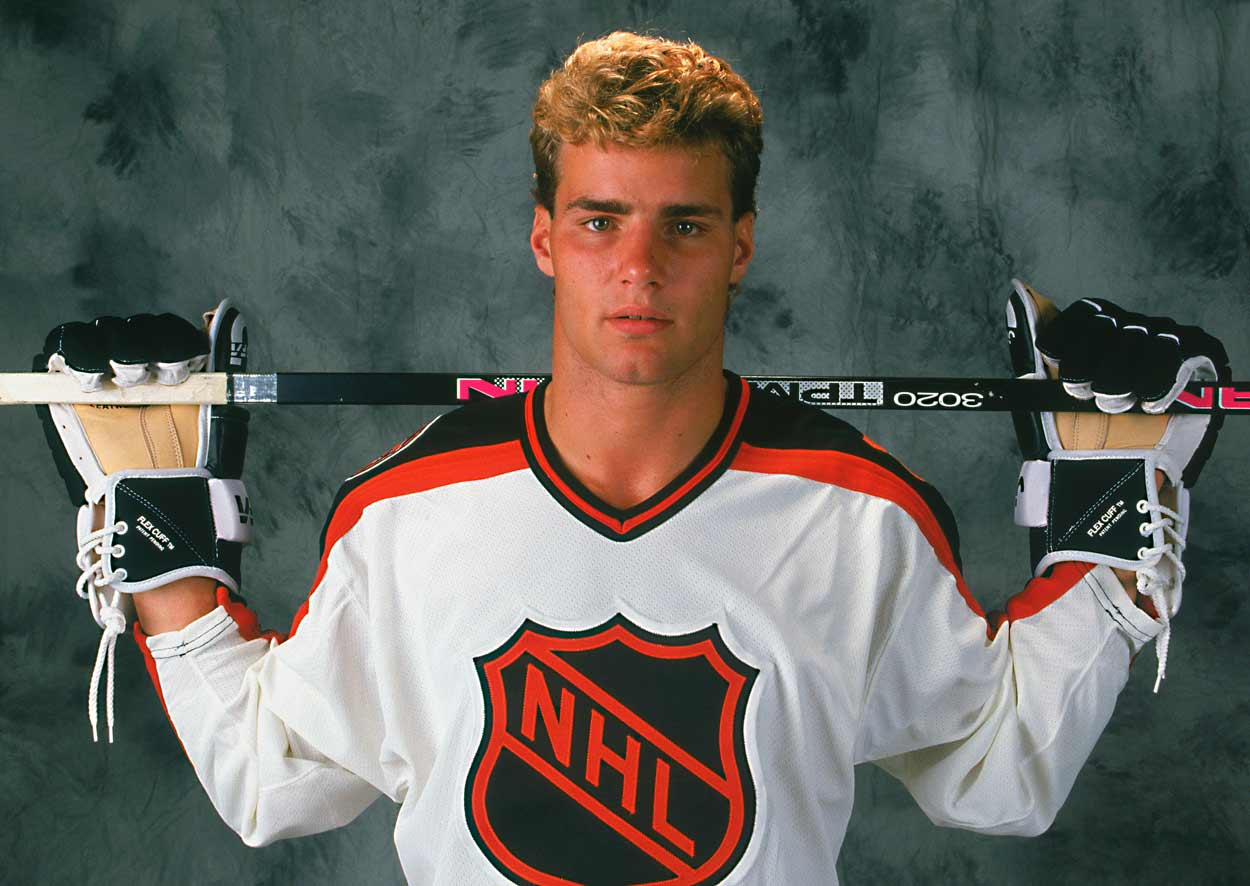 The Next One was a junior superstar when he was chosen first by Quebec in the 1991 draft but infamously fought for the trade to Philadelphia that sent Peter Forsberg and a parcel of players the other way. Big, strong and offensively gifted, Lindros scored 41 goals and 75 points for the Flyers but finished fourth in the Calder vote won by Teemu Selanne who'd set the NHL rookie record of 76 goals with the Jets.