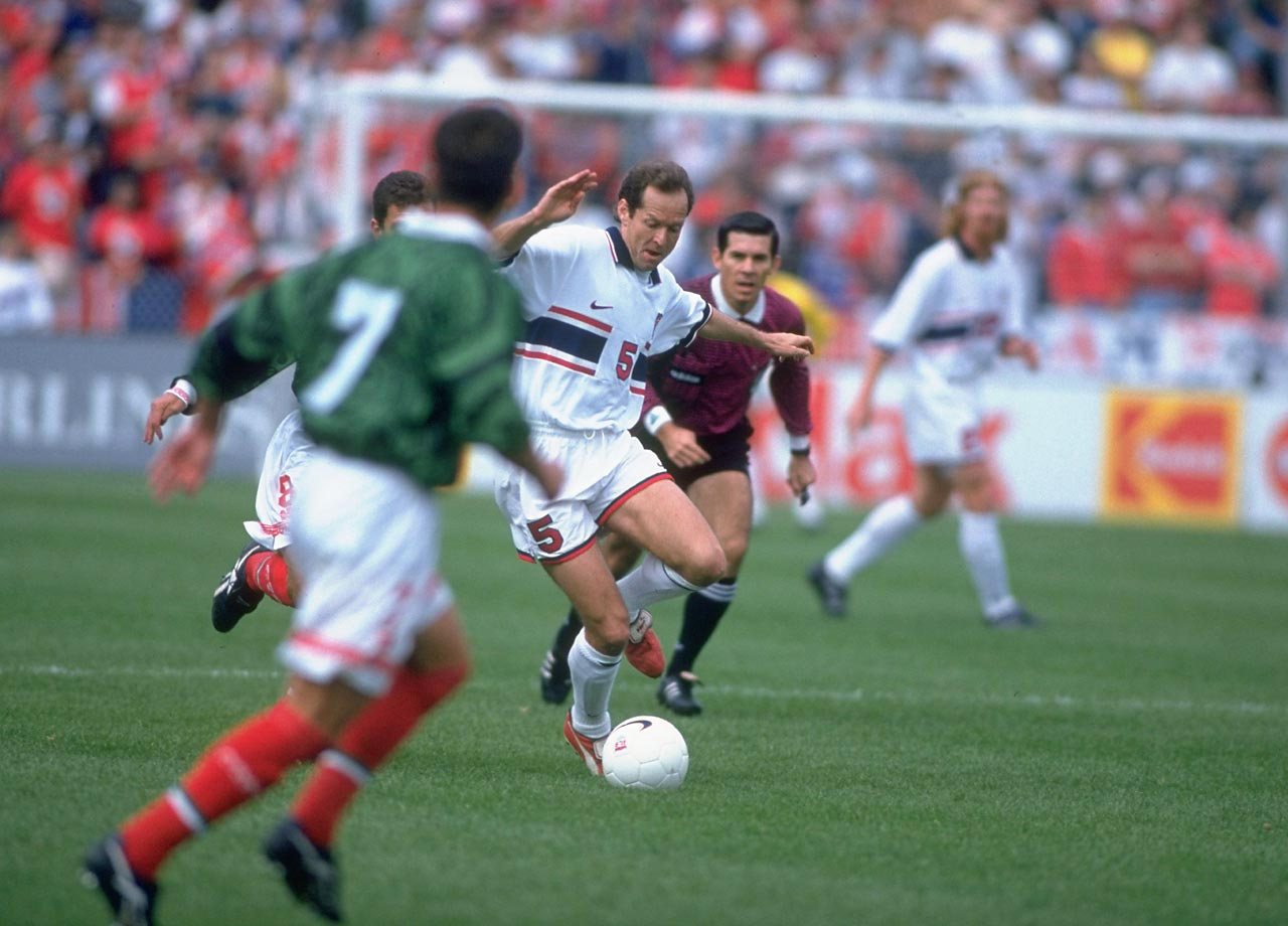 Thomas Dooley, a defender from the USMNT from 1992 to 1999, was born in Bechhofen, Rhineland-Palatinate, Germany.  He recorded 81 caps and seven goals in his impressive eight-year United States career.