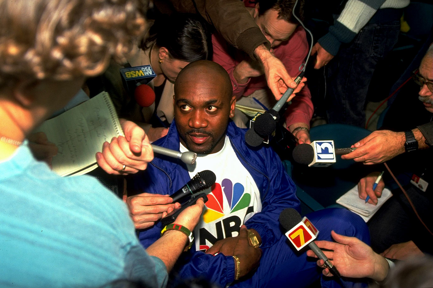 "Bills running back Thurman Thomas was asked how he got psyched for big games. ""I read the newspaper and look at the stupid questions you all ask,"" he replied."